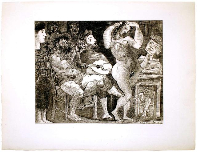 Pablo Picasso, 'En la Taberna. Pêcheurs catalans en bordée', 1934, John Szoke