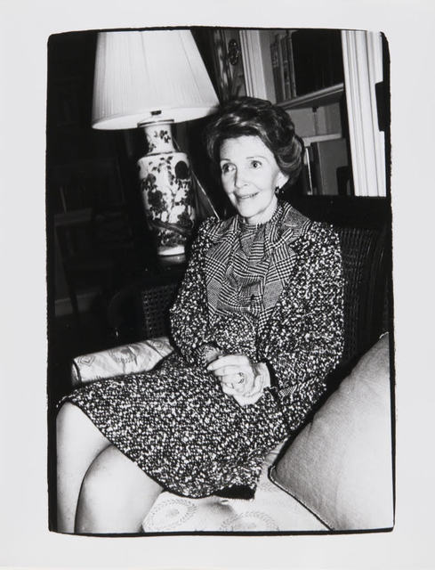 Andy Warhol, 'Andy Warhol, Photograph of Nancy Reagan, 1981', 1981, Hedges Projects