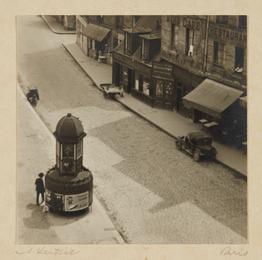 Paris (man at a pissoir, Latin Quarter)