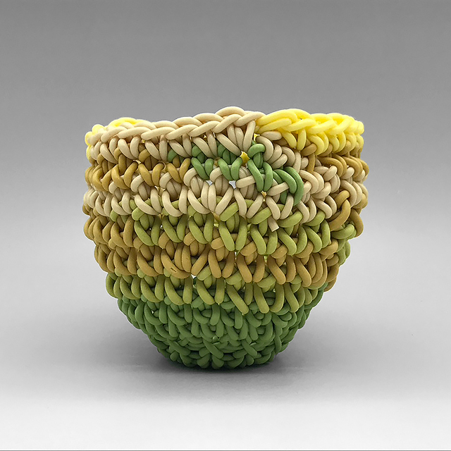 Jeremy Brooks, 'Knot Cup #62', 2020, Sculpture, Crocheted colored porcelain, Duane Reed Gallery