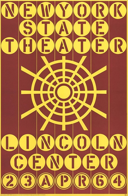 Robert Indiana, 'New York State Theater, Lincoln Center ', 1964, Alpha 137 Gallery