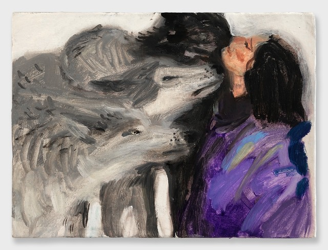 , 'Woman with Wolves,' 2018, RUSCHMAN