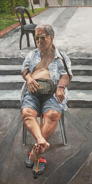 Yeo Tze Yang, 'Old Man Sitting', 2019, iPreciation