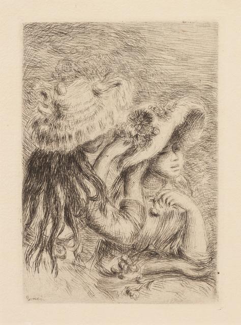 Pierre-Auguste Renoir, 'Le chapeau épinglé (Pinning the Hat)', Hindman