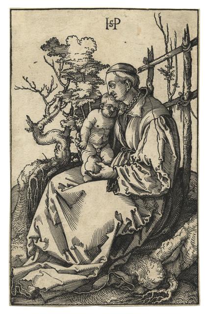 , 'Die hl. Jungfrau mit dem Kind und einer Birne auf einer Rasenbank – The Virgin and Child with a Pear on a Grassy Bench,' 1521, C. G. Boerner