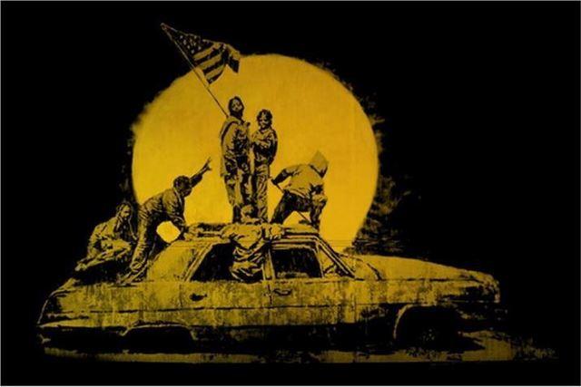 Banksy, 'Gold Flag', 2007, Julien's Auctions