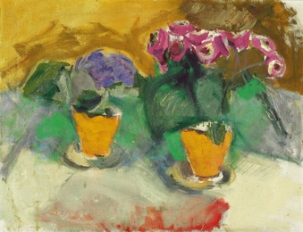 Still life with flowers in vases