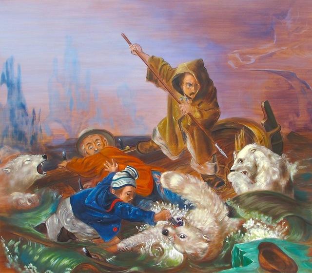 , 'Lucha con osos polares (Francois Auguste Biard, 1839,' 2013, Vasari