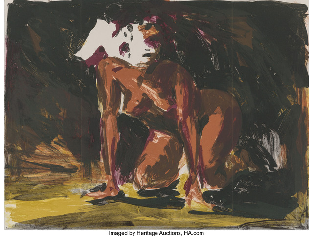 Eric Fischl, 'Woman on all fours (2 works)', 1986, Heritage Auctions