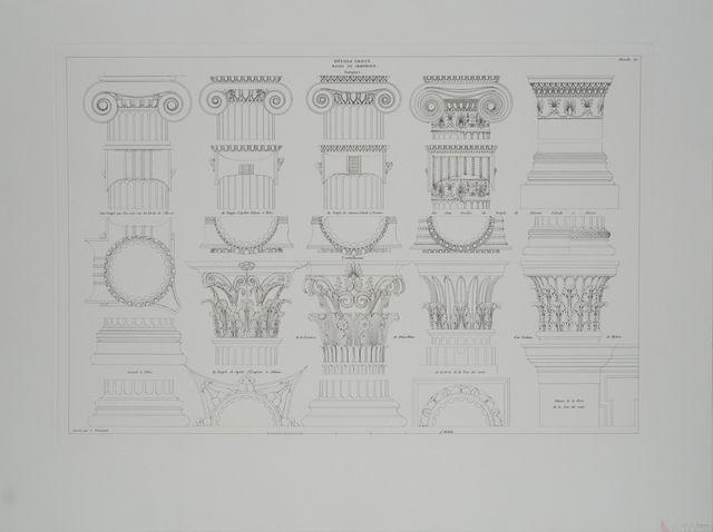 Leonardo da Vinci, 'Details Grecs, Bases et Chapiteaux', (Date unknown), Reproduction, Etching, ArtWise