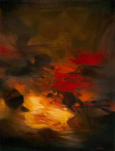 , 'Composition à fond rouge (Red background composition),' 1979, Galerie Hervé Lancelin