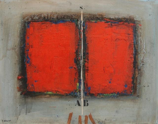 , 'Deux rouges sur gris,' 2003, Bogena Galerie