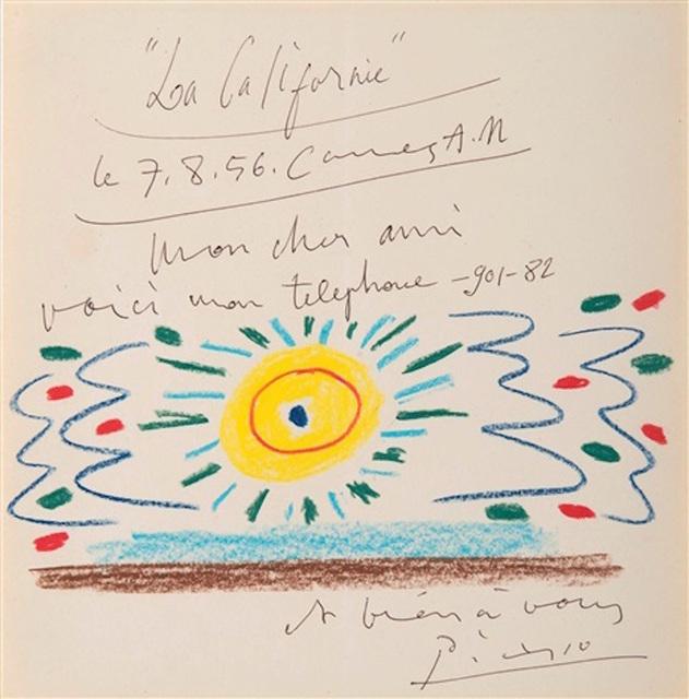 Pablo Picasso, 'Soleil de Méditerranée', 1956, BAILLY GALLERY