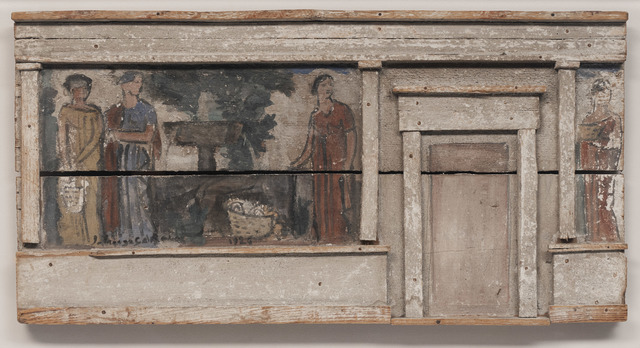 Joaquín Torres-García, 'Tres figuras junto a una fuente y arquitectura', 1926, DICKINSON