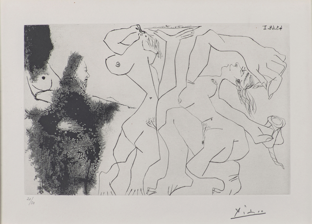 Pablo Picasso, 'Vieux Peintre Rembranesque Peignant des Bacchantes from Series 347', Rago/Wright