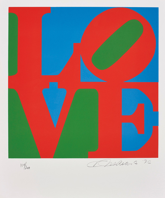 Robert Indiana, 'Book of Love: one plate', 1996, Phillips