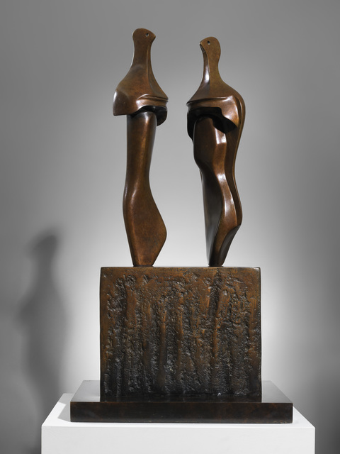 , 'Two Three-Quarter Figures on Base,' 1965, Osborne Samuel