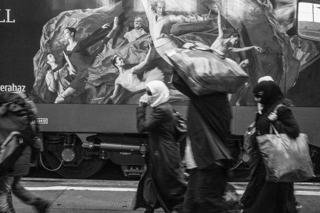 , 'Budapest train station (2),' 2015, Dvir Gallery