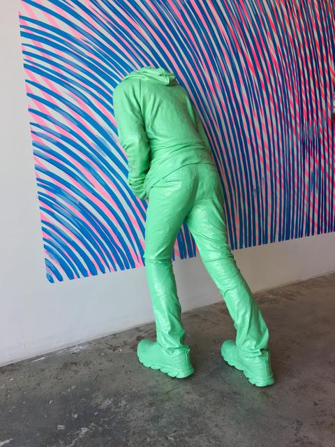 , 'Head in the Wall (child), green,' 2017, Fabien Castanier Gallery