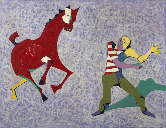 O. Louis Guglielmi, 'Study for 'Droll Gambit at Coney'', ca. 1949, Debra Force Fine Art
