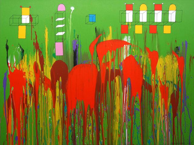 , 'きゅうぶなかたちはながれのうえに,' 2007, Aki Gallery