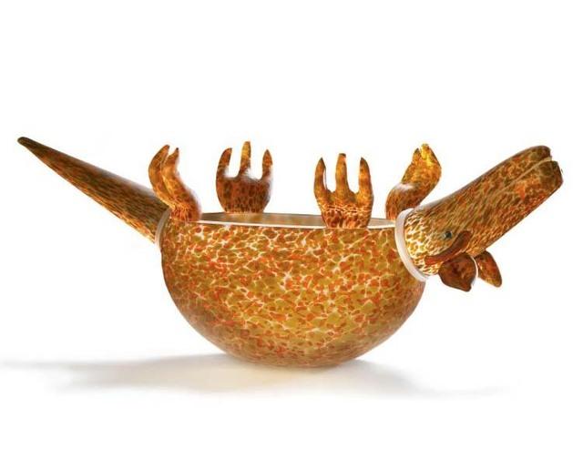 Borowski Glass, 'Armadillo Bowl: 24-03-12 in Orange', 2018, Art Leaders Gallery