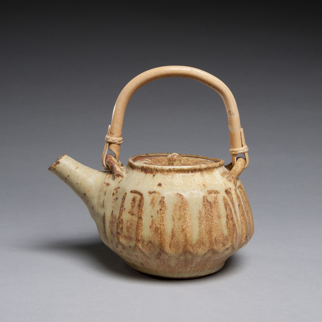 , 'Fluted Tan Teapot,' 2013, LACOSTE / KEANE GALLERY