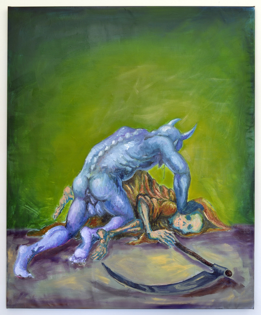 , 'A Painting Attempting to Memorialize a Fantasy of Art's Triumph Over Reality,' 2016, Marie Kirkegaard Gallery