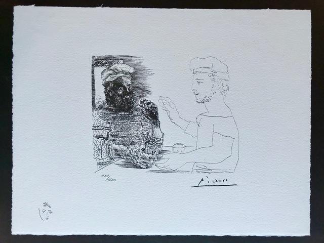 Pablo Picasso, 'Deux buveurs catalans (Suite Vollard Planche XII)', 1973, ByNewArt