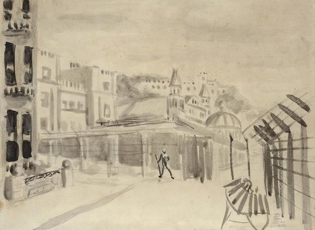 , 'Internment in Douglas,' 1940, Ben Uri Gallery and Museum