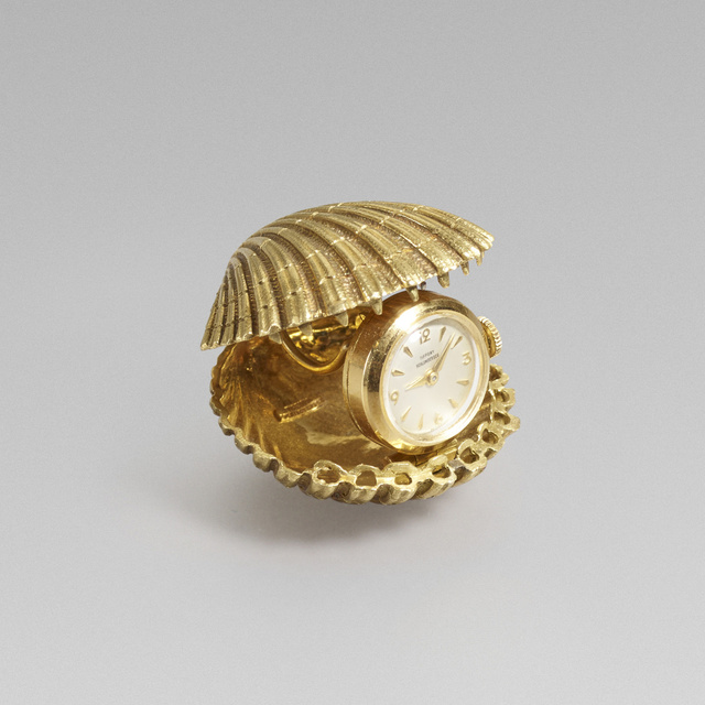 Jean Schlumberger for Tiffany & Co., 'Gold shell clock', c. 1965, Rago/Wright
