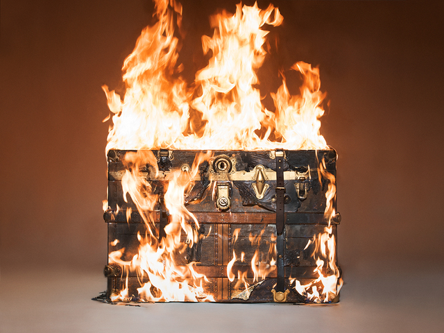 , 'Louis Vuitton Trunk on Fire,' 2016, Imitate Modern