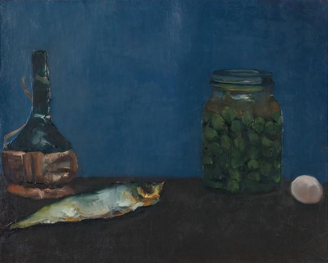 Alberto Ziveri, 'Still life with fiasco and fish', 1966, Finarte