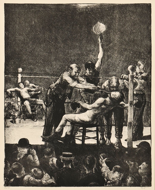 George Wesley Bellows, 'Between Rounds, Large, First Stone', 1916, Skinner