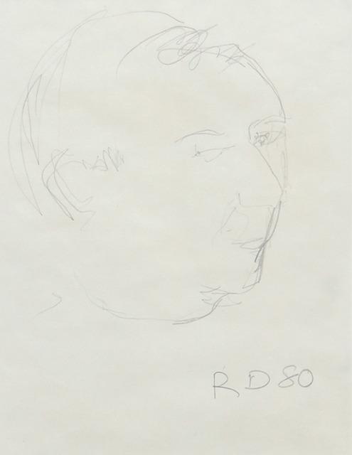 Richard Diebenkorn, 'Portrait of Jasper Johns', 1980, Mark Borghi Fine Art