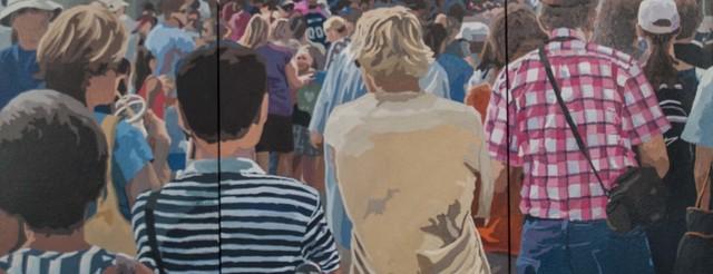 James Oliver (1972), 'Crowd (Composition # 15)', George Billis Gallery