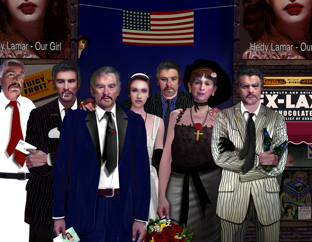 Alfred Leslie, 'Don Corleone and Family (from 50 Characters in Search of a Reader)', 2014, Bruce Silverstein Gallery
