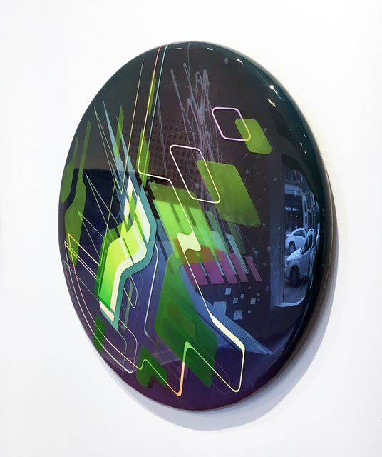 Francesco Lo Castro, 'Point Counter Point', 2017, Painting, Acrylic, spray enamel and layered epoxy resin on wood, Duane Reed Gallery