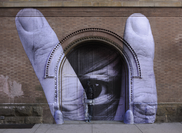 , 'JR Through the Eye of Liu Bolin,' 2012, Klein Sun Gallery