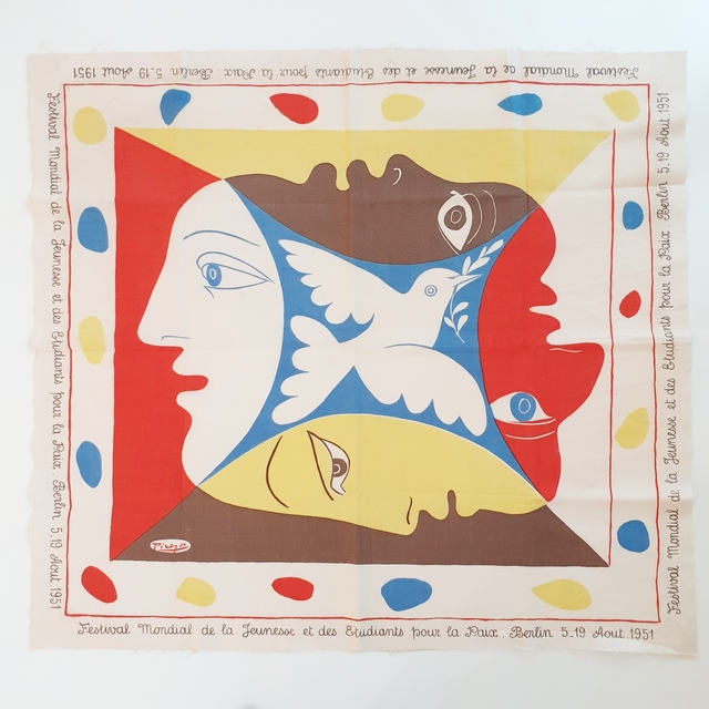 Pablo Picasso, 'YOUTH FESTIVAL SCARF', 1951, Art Works Paris Seoul Gallery