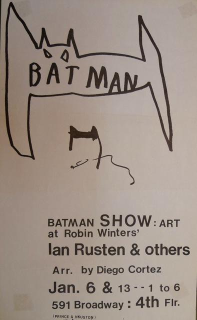 Jean-Michel Basquiat, 'The Batman Show', 1979, Bengtsson Fine Art