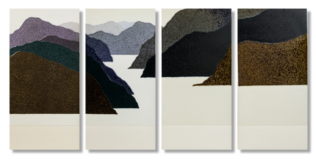 Haiying Hu, 'Landscape', 2017, Sculpture, Ceramic, 4 pieces, Gallery LEE & BAE