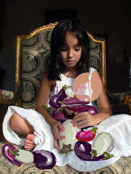 Shelley Laffal, 'Eggplant Princess', Zenith Gallery