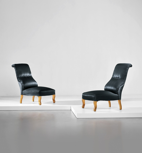 Carlo Mollino, 'Unique pair of lounge chairs, designed for the living room of the Ada and Cesare Minola House, Turin', 1944-1946, Phillips