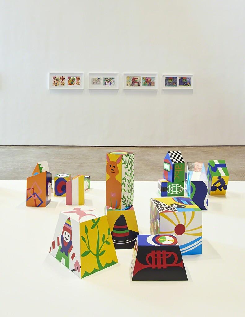 Installation view, Teresa Burga: Mano Mal Dibujada, SculptureCenter, New York, 2017. Photo: Kyle Knodell