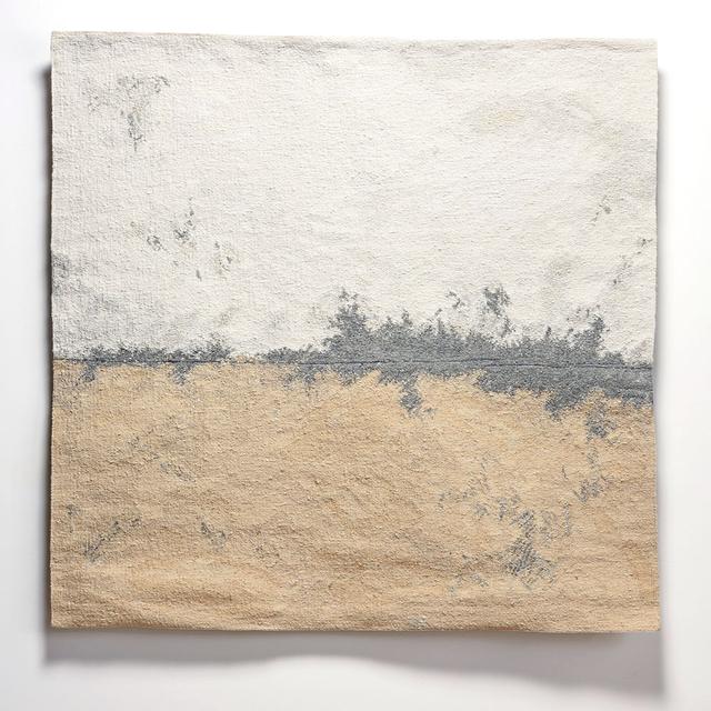, 'Linen Tapestry with Broken Grey Line,' 2014, browngrotta arts
