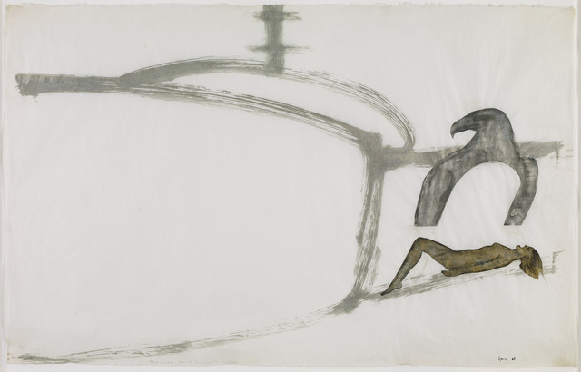 Nancy Spero, 'Helicopter, Eagle (Magnet), Victim,' 1968, Galerie Lelong & Co
