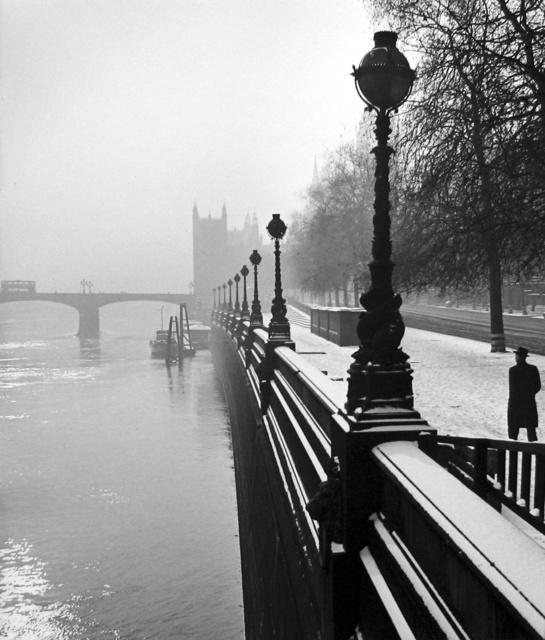 , 'Embankment, London,' 1947, Peter Fetterman Gallery