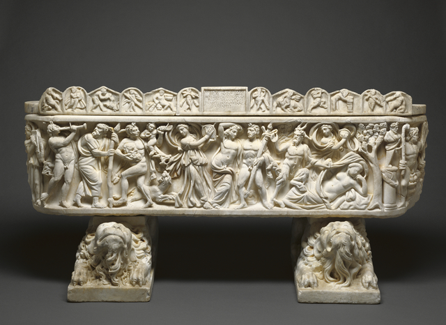 'Sarcophagus and Lid, Crouching Lion Supports', 210 -220, J. Paul Getty Museum