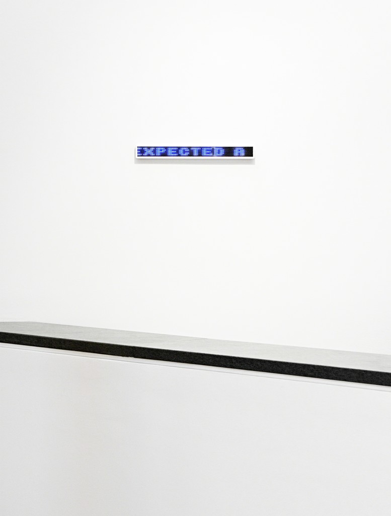 Jenny Holzer Blue Blue, text: Blue 1998 2003 Electronic LED signs with color diodes and anodized aluminum housing 16 1/2 x 2 x 1/2 inches  (41.9 x 5.1 x 1.3 cm) Edition 12 of 20 Signed on label on reverse (Inventory #17338)